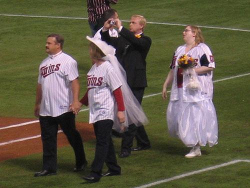 marching j baseball game